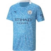 Camiseta de Fútbol PUMA 1ª Equipación Manchester City 2020-2021 Niño 757063-01
