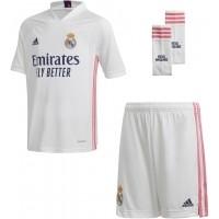 Camiseta de Fútbol ADIDAS 1ª Equipación Real Madrid 2020-2021 Minikit Niño FQ7489