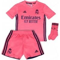 Camiseta de Fútbol ADIDAS 2ª Equipación Real Madrid Minikit Infantil FQ7494