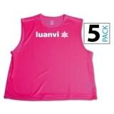 Peto de Fútbol LUANVI Pack 5 unidades 06268-0197