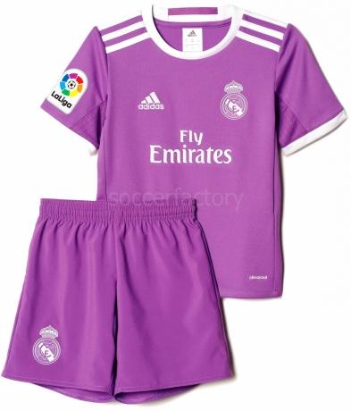 Camiseta adidas Mini Kit 2ª Equipación R. Madrid 2016-2017