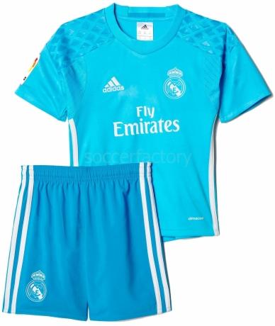Camisetas adidas Mini Kit 1ª Equipación Portero R. Madrid 2016-2017 ... 30b2abb0420ca