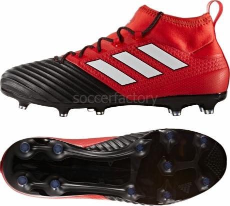 Botas De Futbol Adidas Negras Y Rojas