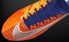 Botas de Fútbol Nike Mercurial Naranja Flúor / Azul Marino
