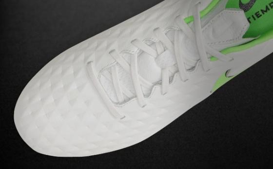 Botas de Fútbol Nike Tiempo Blanco / Verde Flúor