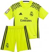 Camiseta de Fútbol ADIDAS Mini Kit 2ª Equipación Portero R. Madrid 2016-2017  B41455
