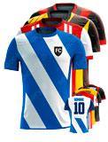Equipación a medida de Fútbol MH Camiseta sublimada cuello redondo RNECK.TSHIRT.SUBLIMATION