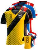Equipación a medida de Fútbol MH Camiseta sublimada cuello de pico VNECK.TSHIRT.SUBLIMATION