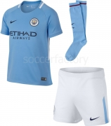Camiseta de Fútbol NIKE Kit 1ª Equipación  Manchester City 2017-2018 junior 847362-489