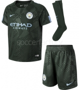 Camiseta de Fútbol NIKE Kit 3ª Equipación  Manchester City 2017-2018 junior 847360-333