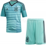 Camiseta de Fútbol ADIDAS Mini Kit 1ª Equipación Portero España 2018 BQ8873